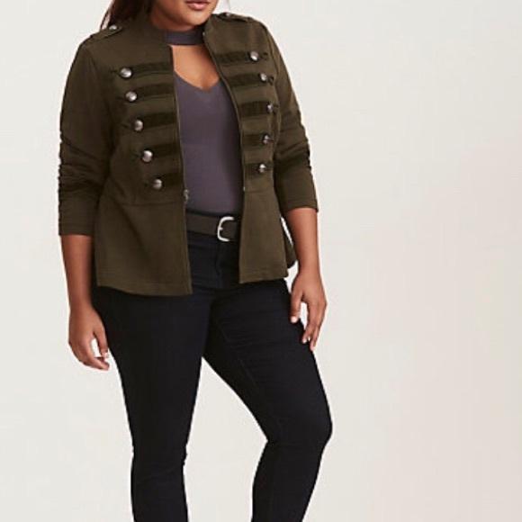 e8be7dadadd Torrid Embellished Military Plus Size Jacket. NWT